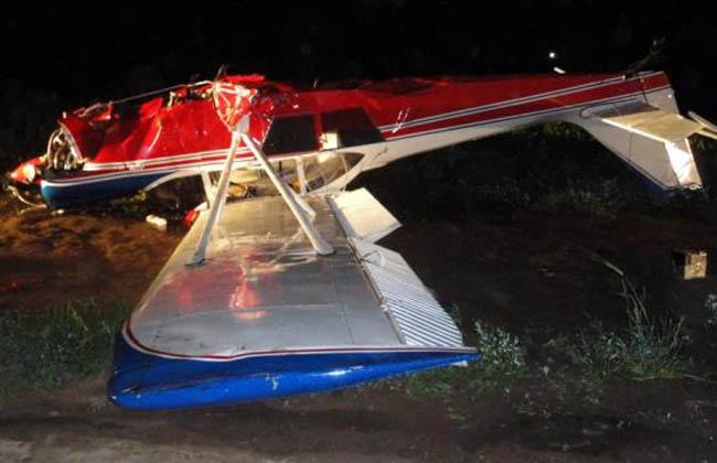 Avioneta cayó en la ruta y sus pasajeros salieron ilesos - Fotos