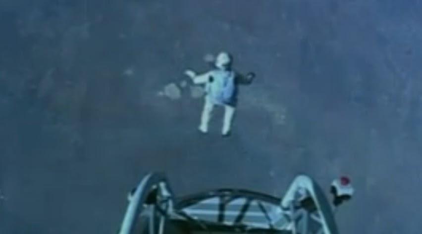 Felix Baumgartner rompió la barrera de sonido en paracaídas - Video