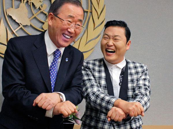 Video: Integrantes de la ONU bailan el 'Gangnam style' con PSY