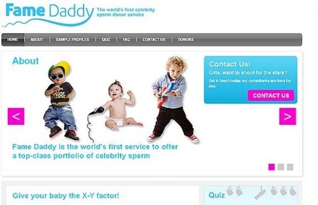 Servicio de donación de esperma de famosos a través de internet