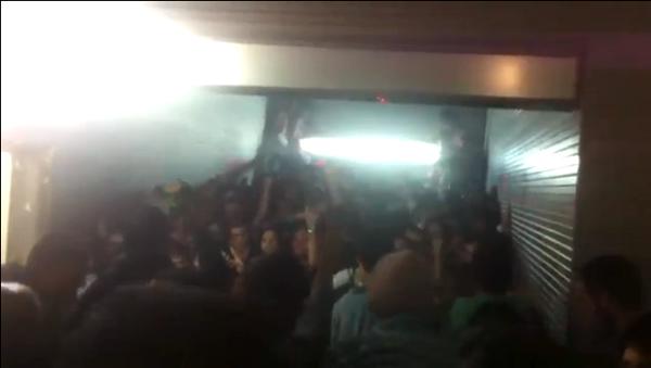 Video: La avalancha mortal en fiesta de Halloween española