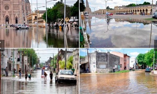 Desborde del río Luján llegó hasta la Basílica - Fotos y video