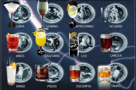 Las bebidas de acuerdo a cada signo