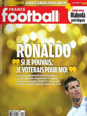 Cristiano Ronaldo: 'Si pudiera, me votaría a mí mismo para el Balón de Oro'