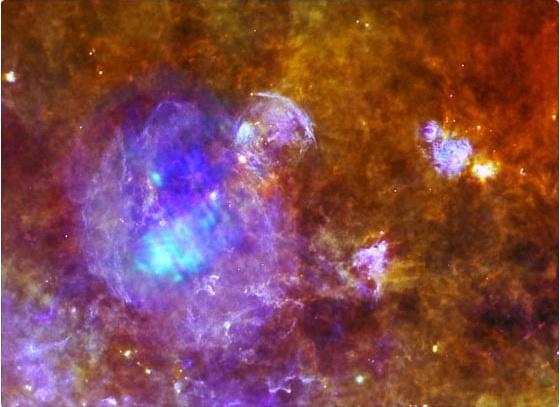 Foto: Cómo es una estrella mientras está muriendo