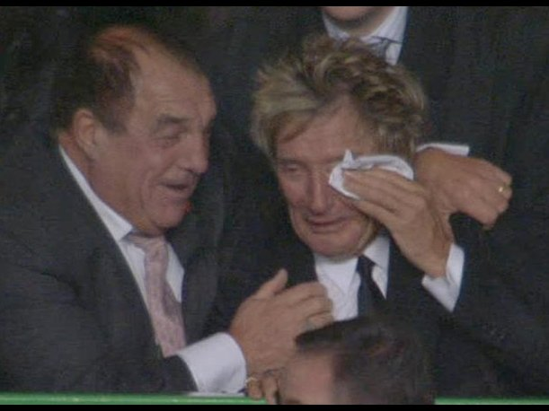 Video: la emoción de Rod Stewart por el éxito del Celtic