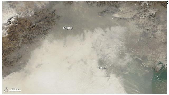 Foto: Así se ve la contaminación en China desde el espacio